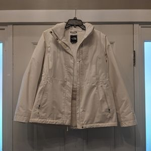 Women's Ivory North Face Jacket Ivory